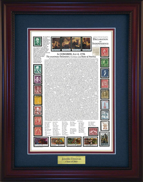 Declaration of Independence - Personalized Unique Framed Gift