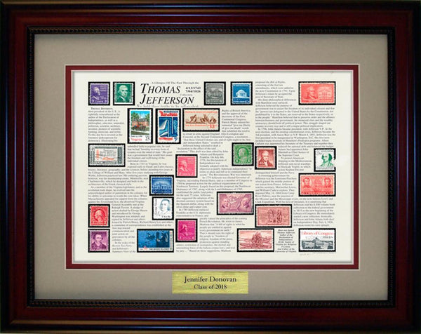Thomas Jefferson  - Personalized Unique Framed Gift