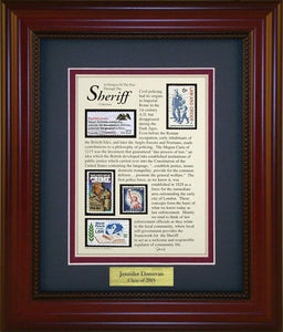 Sheriff - Personalized Unique Framed Gift