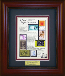 School Superintendent - Personalized Unique Framed Gift