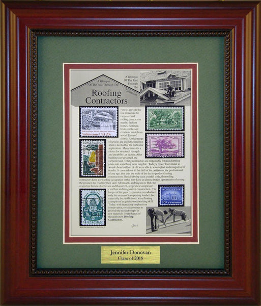 Roofing Contractor - Personalized Unique Framed Gift
