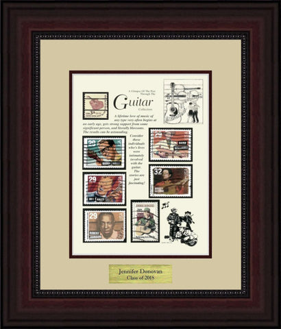 Guitars - Personalized Unique Framed Gift