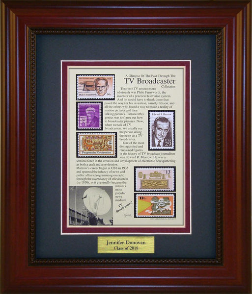 TV Broadcaster - Personalized Unique Framed Gift