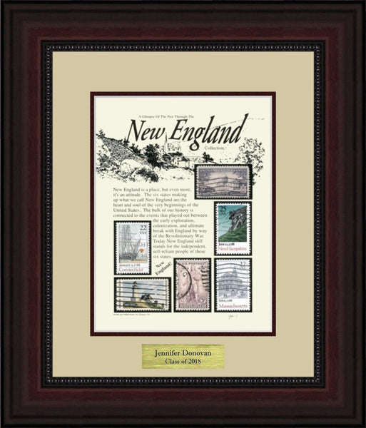 New England - Personalized Unique Framed Gift