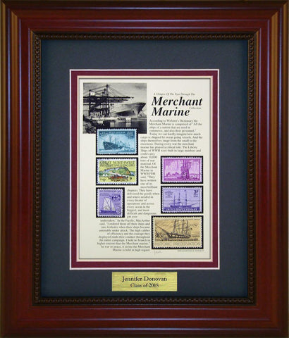 Merchant Marine - Personalized Unique Framed Gift