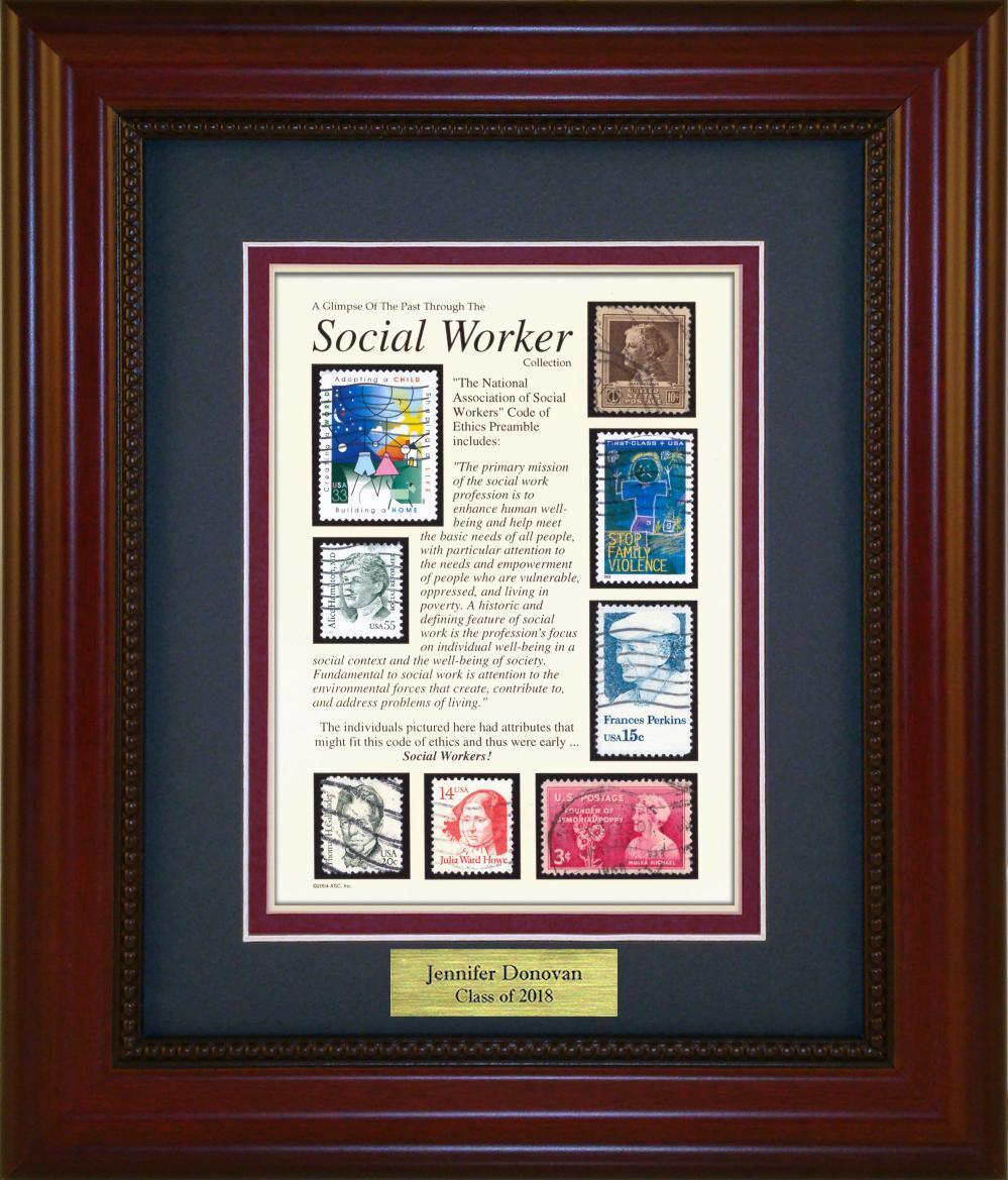 Social Worker - Personalized Unique Framed Gift
