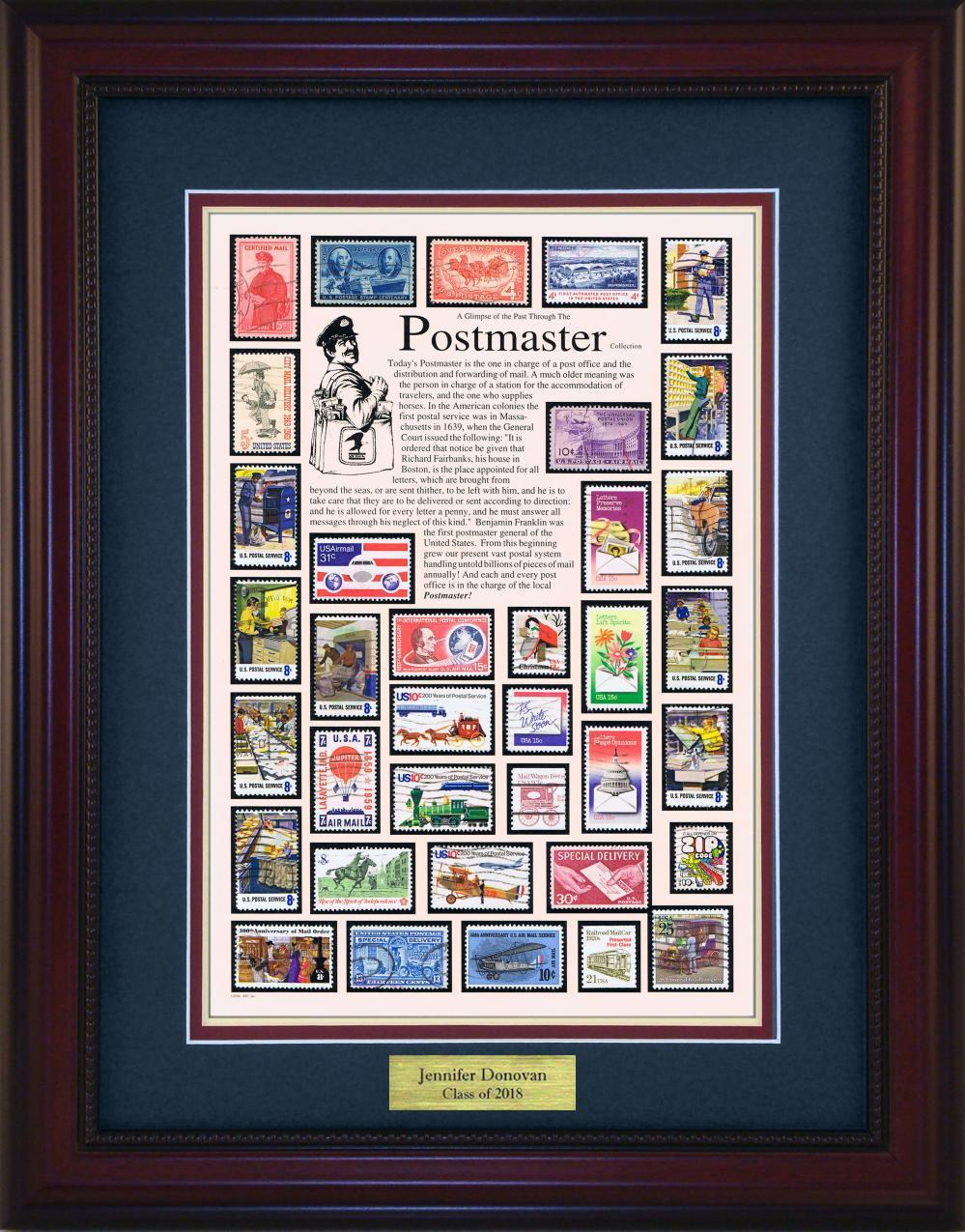 Postmaster - Personalized Unique Framed Gift