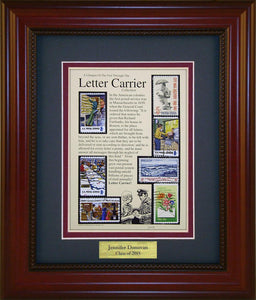 Letter Carrier - Personalized Unique Framed Gift