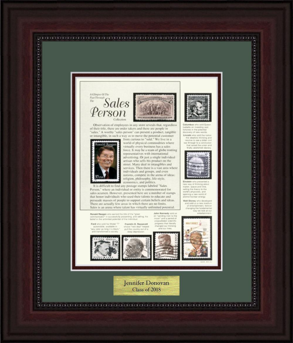 Sales Person - Personalized Unique Framed Gift