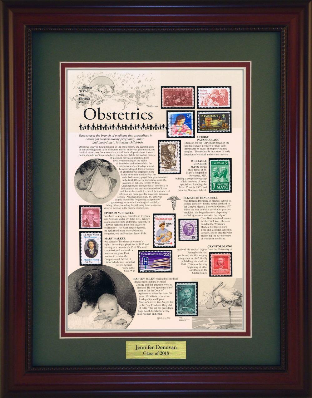Obstetrics - Personalized Unique Framed Gift