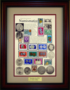 Numismatist - Personalized Unique Framed Gift
