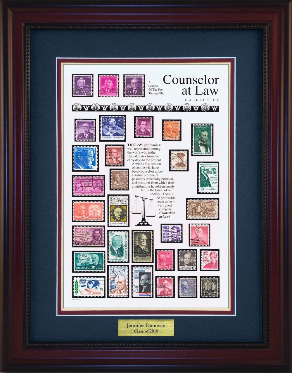 Counselor at Law - Personalized Unique Framed Gift