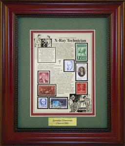 X- Unique Framed CollectibleRay Technician - Personalized Unique Framed Gift