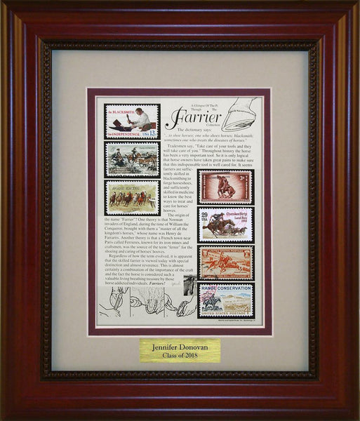 Farrier - Personalized Unique Framed Gift