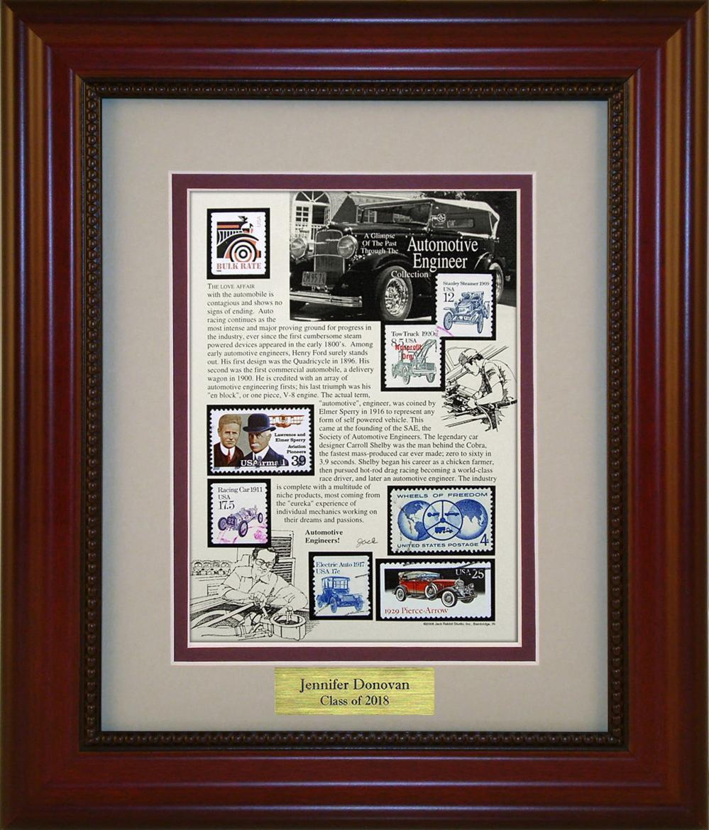 Automotive Engineering - Personalized Unique Framed Gift