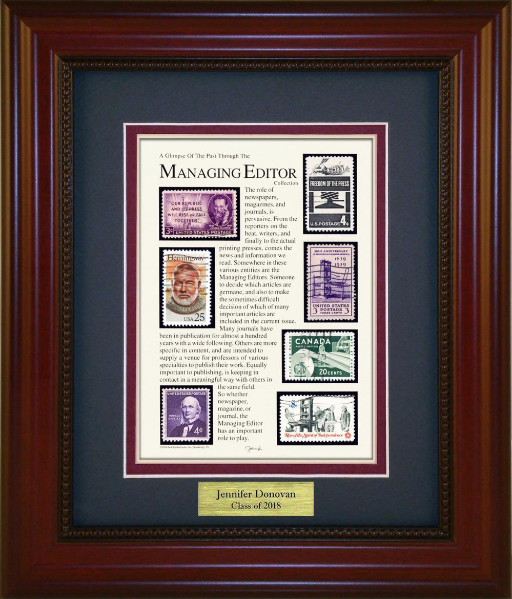 Managing Editor - Personalized Unique Framed Gift
