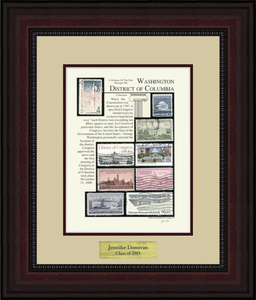 Washington District of Columbia - Personalized Unique Framed Gift