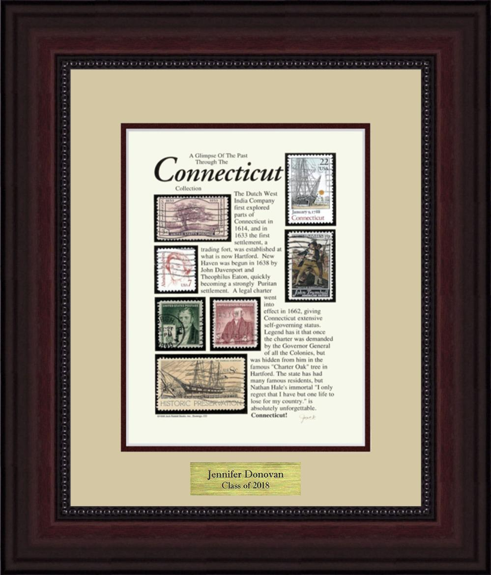 CONNECTICUT - Personalized Unique Framed Gift