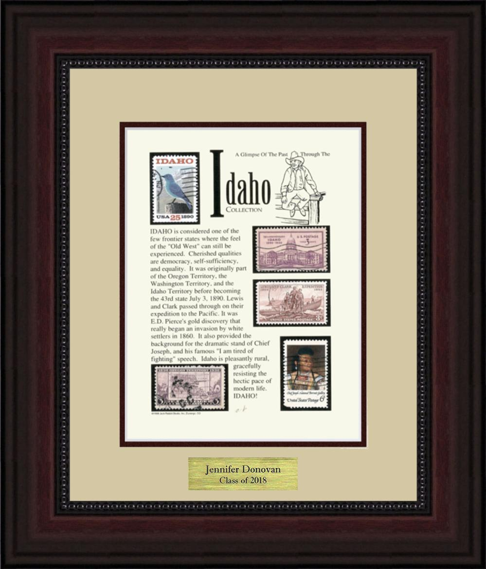 IDAHO - Personalized Unique Framed Gift