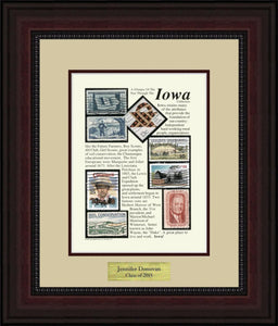 IOWA - Personalized Unique Framed Gift