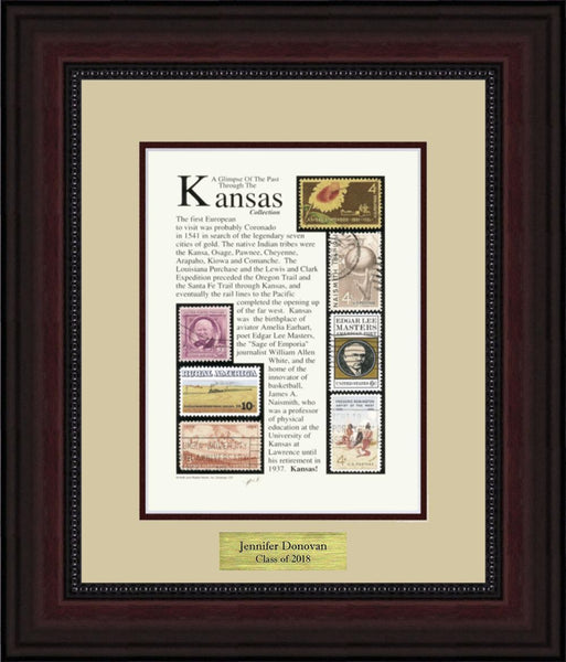 KANSAS - Personalized Unique Framed Gift