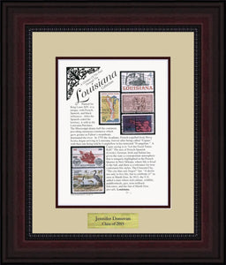 LOUISIANA - Personalized Unique Framed Gift