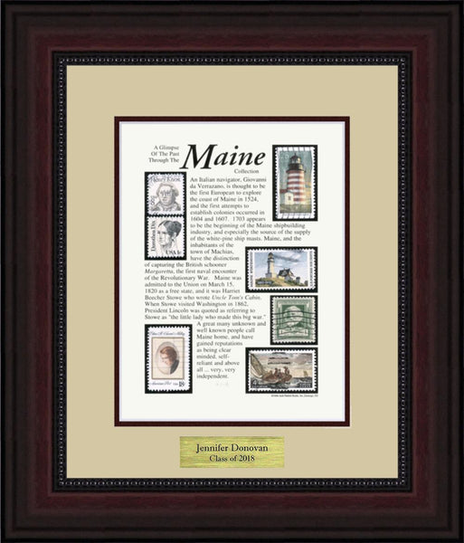 MAINE - Personalized Unique Framed Gift