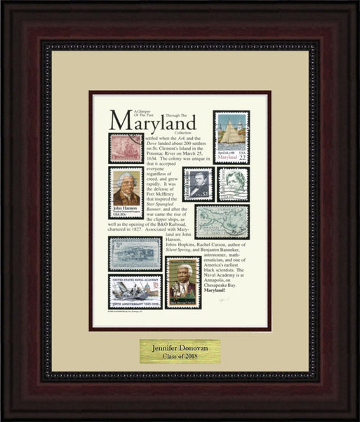 MARYLAND - Personalized Unique Framed Gift