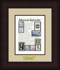 MASSACHUSETTS - Personalized Unique Framed Gift