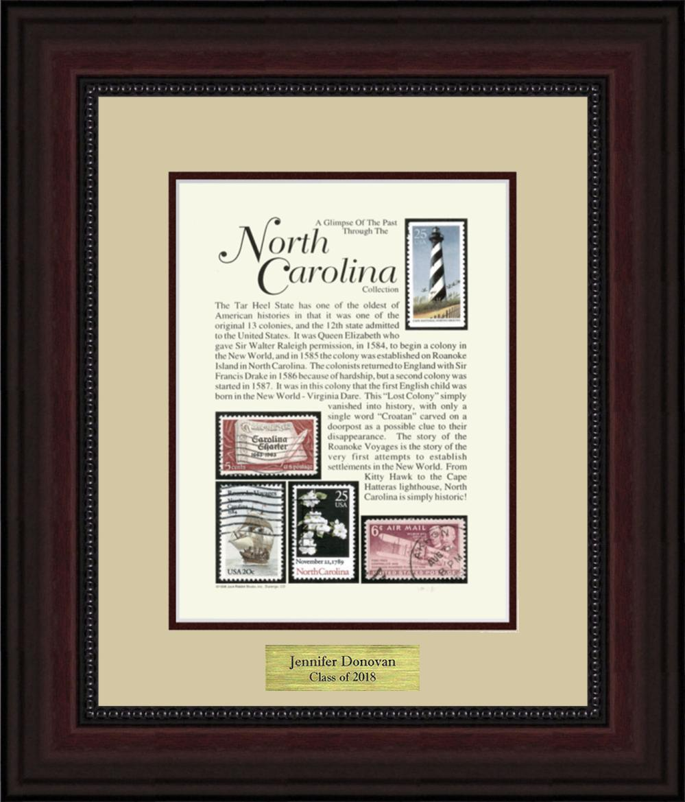 NORTH CAROLINA - Personalized Unique Framed Gift