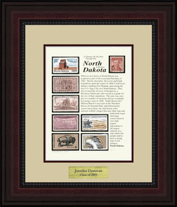 NORTH DAKOTA - Personalized Unique Framed Gift