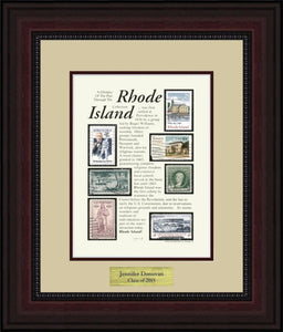RHODE ISLAND - Personalized Unique Framed Gift
