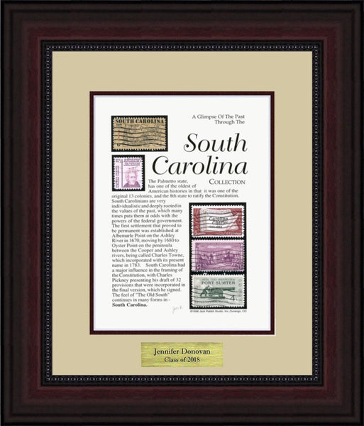 SOUTH CAROLINA - Personalized Unique Framed Gift
