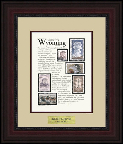 WYOMING - Personalized Unique Framed Gift