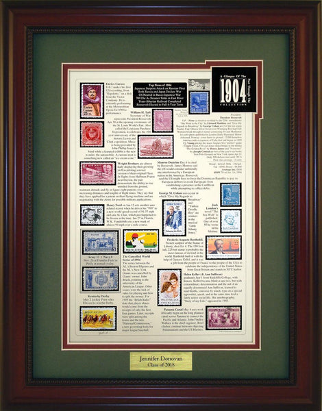 Year 1904 - Personalized Unique Framed Gift
