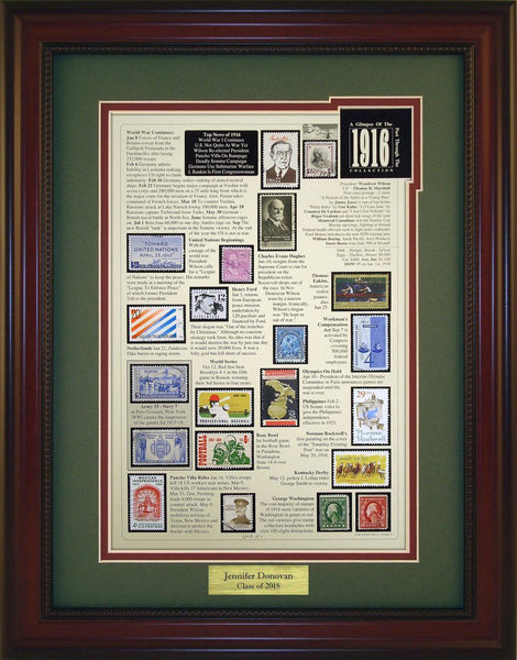 Year 1916 - Personalized Unique Framed Gift