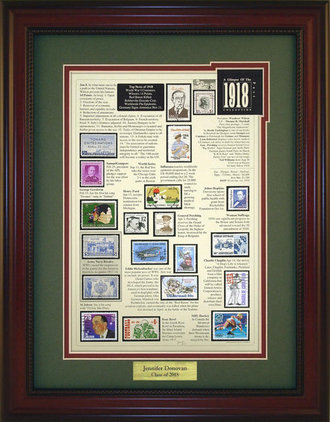 Year 1918 - Personalized Unique Framed Gift