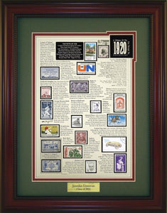 Year 1920 - Personalized Unique Framed Gift