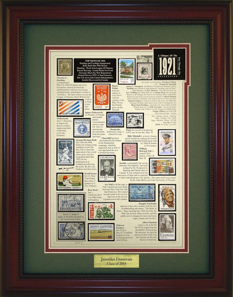 Year 1921 - Personalized Unique Framed Gift