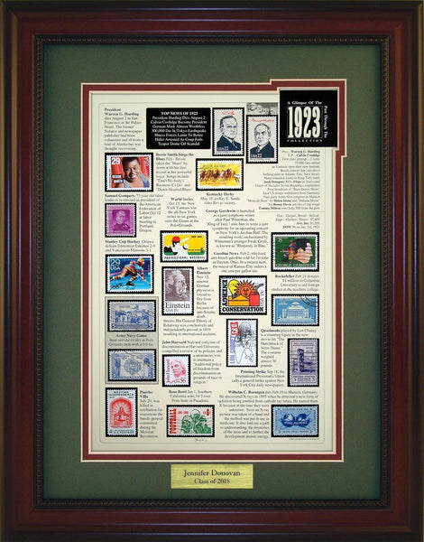 Year 1923 - Personalized Unique Framed Gift
