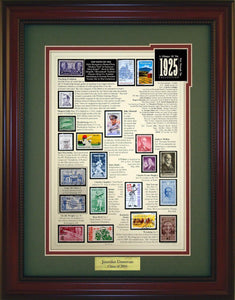 Year 1925 - Personalized Unique Framed Gift