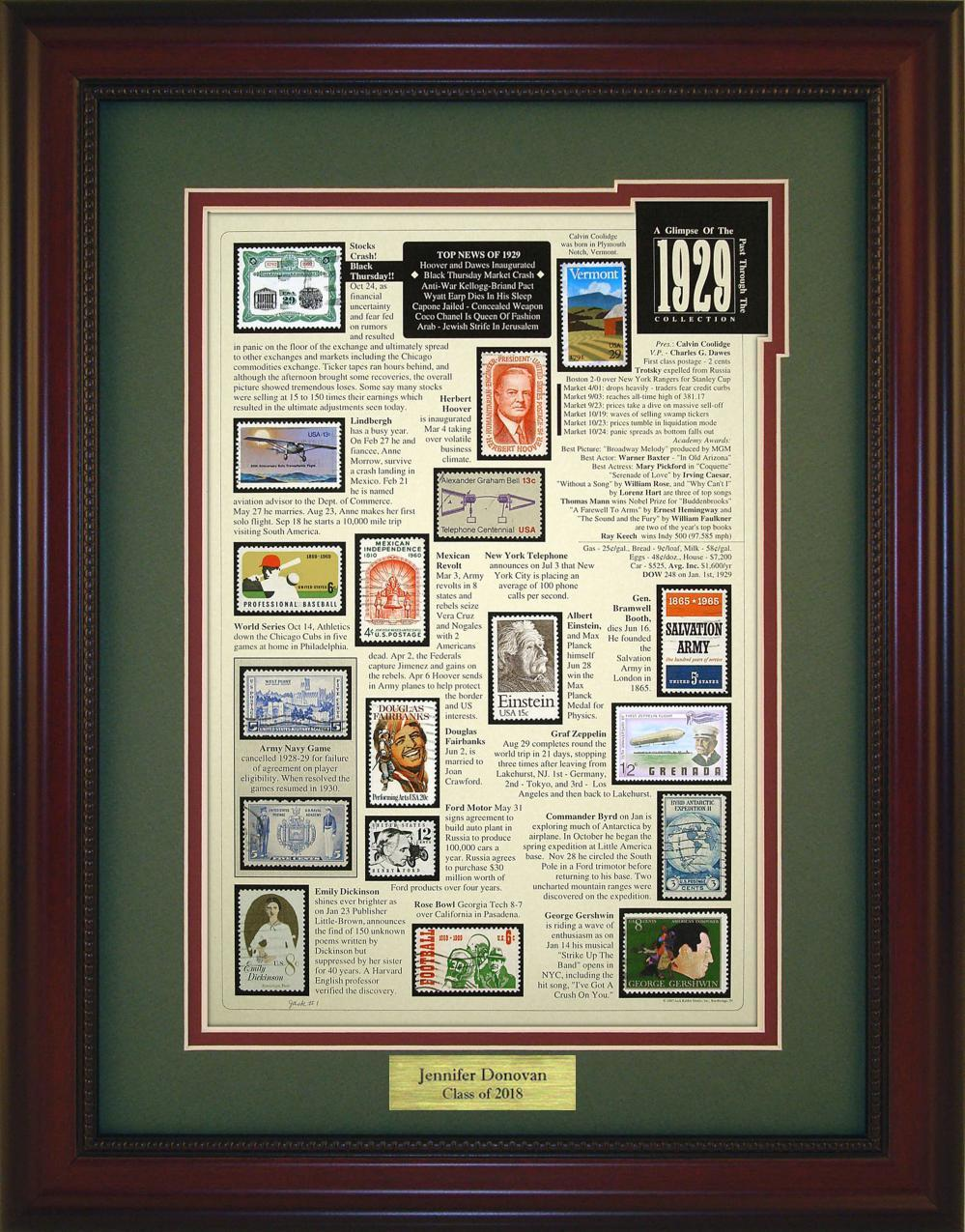 Year 1929 - Personalized Unique Framed Gift
