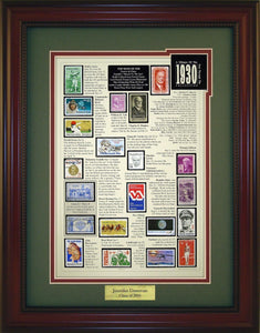 Year 1930 - Personalized Unique Framed Gift