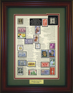 Year 1931 - Personalized Unique Framed Gift