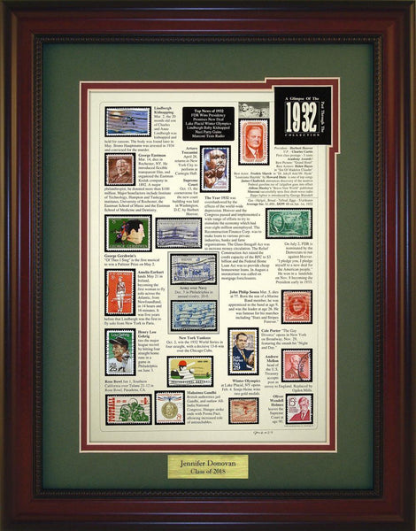 Year 1932 - Personalized Unique Framed Gift