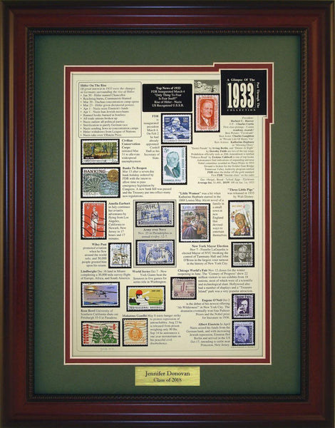 Year 1933 - Personalized Unique Framed Gift