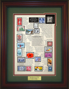 Year 1937 - Personalized Unique Framed Gift