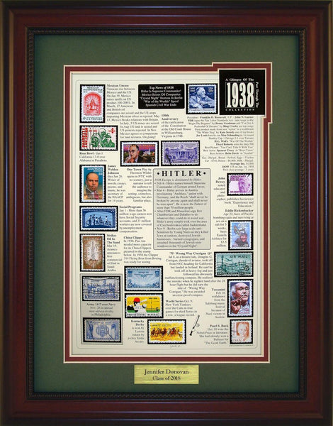 Year 1938 - Personalized Unique Framed Gift