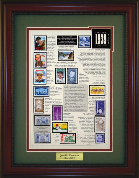 Year 1939 - Personalized Unique Framed Gift