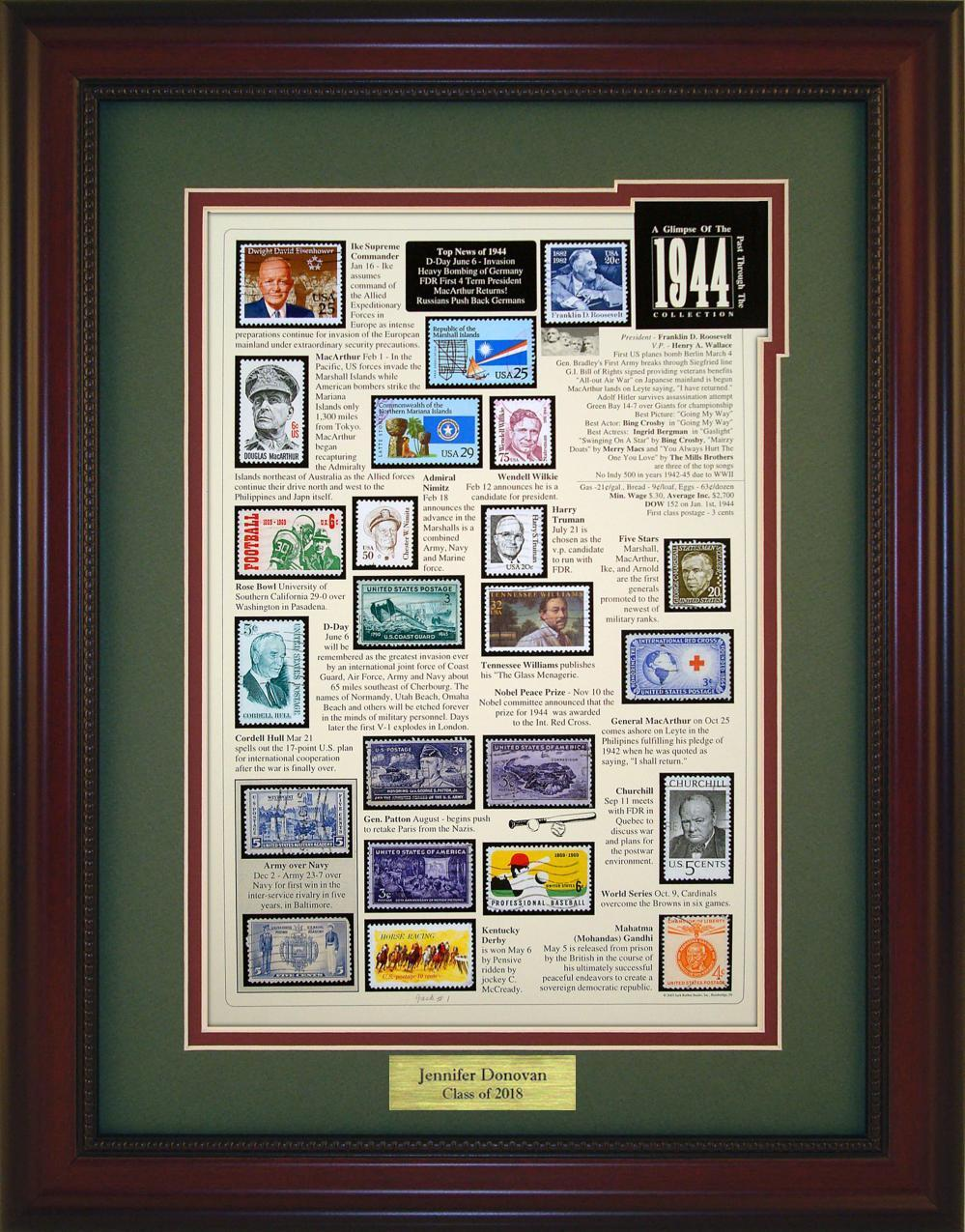 Year 1944 - Personalized Unique Framed Gift